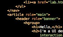 Screenshot of some Semantic markup I've done